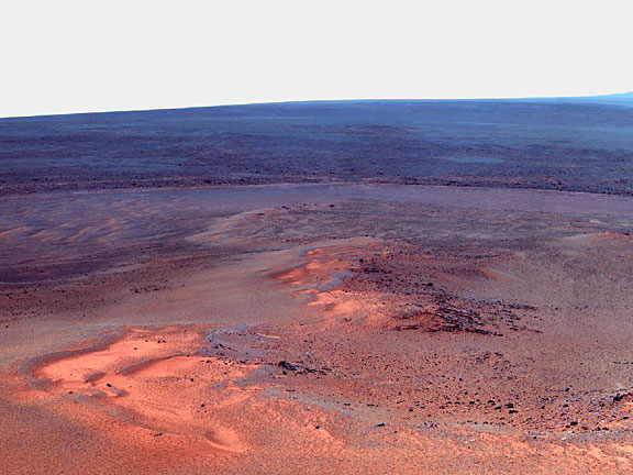 Opportunity's Eighth Anniversary View From Greeley Haven