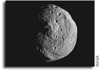 NASA Dawn Spacecraft Returns Close-Up Image of Asteroid Vesta