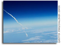 Educational Balloon Provides Space Shuttle Launch Images and Video From Over 110,000 feet