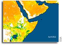 Imagery: Horn of Africa Drought As Seen From Orbit
